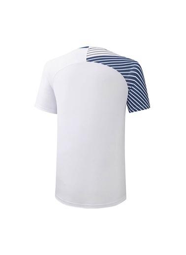 Mizuno Shadow Tee Erkek T-shirt Beyaz/Mavi Beyaz